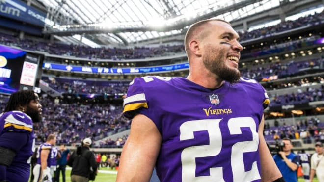 Former Notre Dame Fighting Irish and current Minnesota Vikings safety Harrison Smith