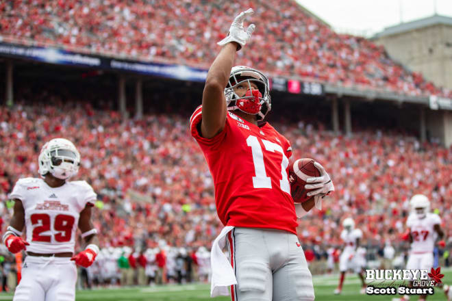 Ohio State Buckeyes junior wide receiver Chris Olave was named a preseason first-team All-American by Athlon Sports.