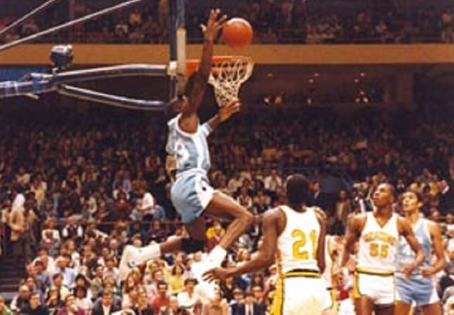 Jordan before ramming one home at Wake Forest.