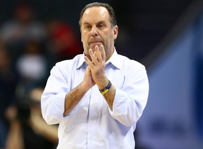 Mike Brey led Notre Dame to 12 NCAA Tournament appearances his first 17 years but has missed the last four, including the 2020 cancellation because of COVID-19.