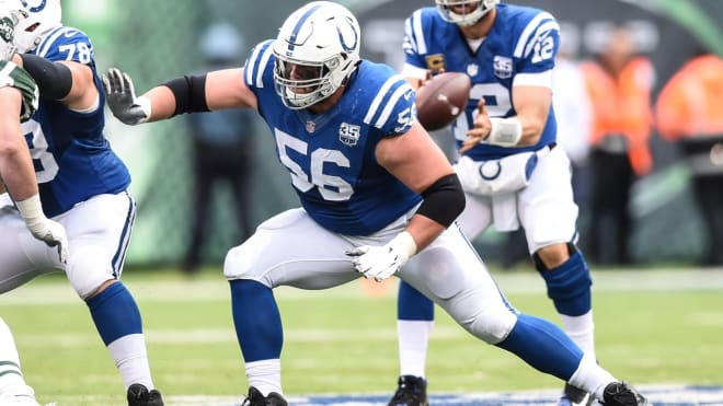 Former Notre Dame and current Indianapolis Colts offensive guard Quenton Nelson