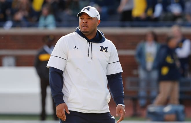 Michigan Wolverines football offensive coordinator and wide receivers coach Josh Gattis inked an extension this offseason and is under contract through the 2022 campaign.