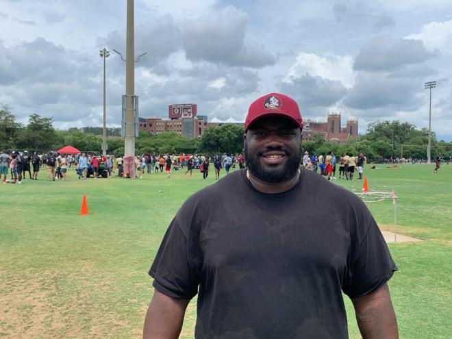 Former FSU defensive tackle Aaron Jones now trains linemen in central Florida.