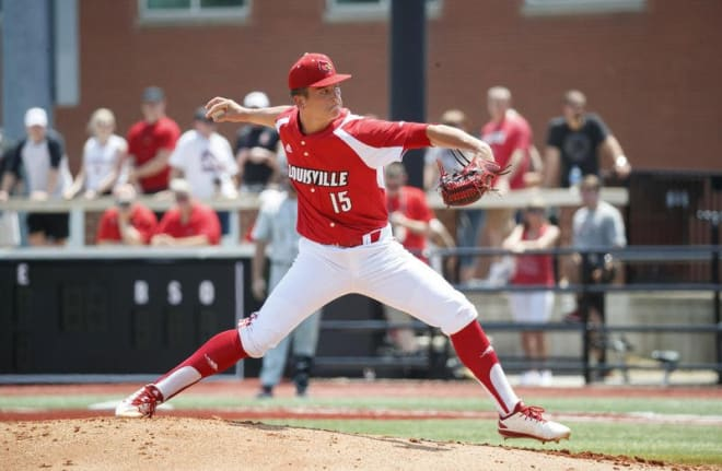 Bobby Miller pitched a one-hitter and Louisville beat ECU 12-0 to advance to the College World Series in Omaha.