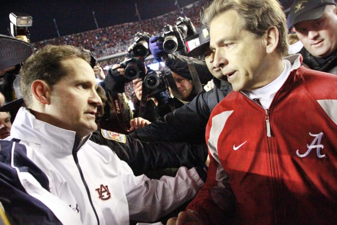 Nick Saban has won four out of the six meetings against Gus Malzahn