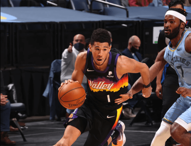 Phoenix Suns guard Devin Booker has made a strong case this season for an All-Star bid, as he has helped lead the team to one of the best records in the NBA so far. (Courtesy Phoenix Suns)