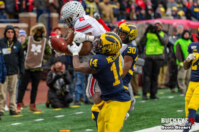 J.K. Dobbins led the Buckeyes' offense with four rushing touchdowns.