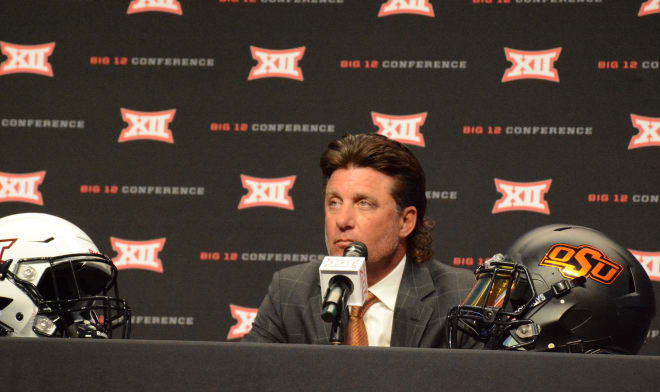 Oklahoma State head coach Mike Gundy.