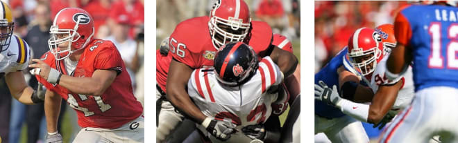 UGA's all-time leaders in QBPs: 1) David Pollack (117); 2) Geno Atkins (108); and 3) Quentin Moses (96)