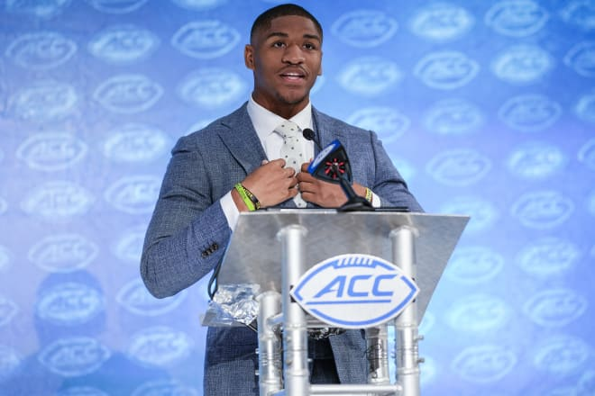 Thomas speaking to the ACC Media in Charlotte on Wednesday