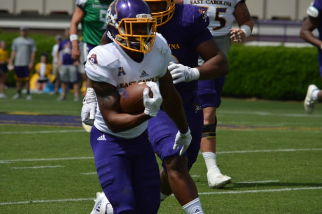 ECU running back Derrell Scott hopes to make his presence known on opening night in Greenville.