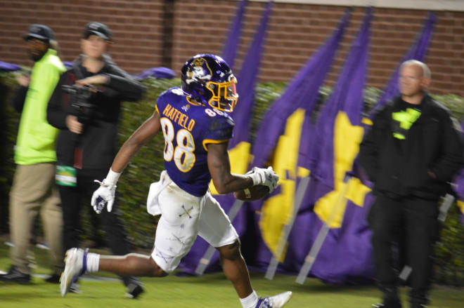Ever improving freshman receiver Jsi Hatfield has added an additional weapon to an ECU offense that is getting better every game.