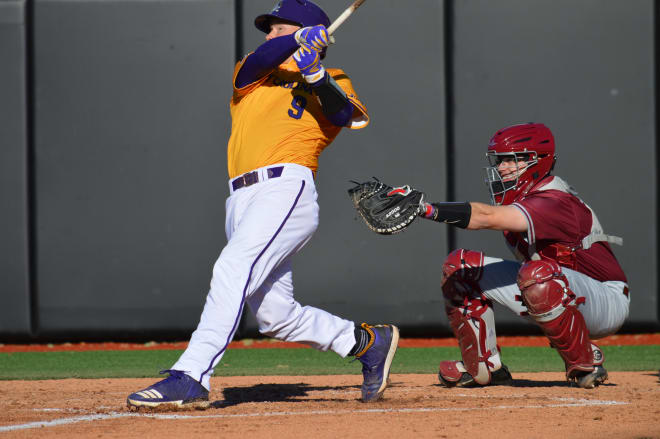 Seth Caddell picked up his first home run of the season in East Carolina's Sunday victory over St. Josephs.