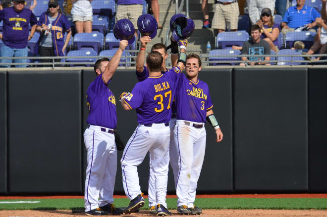 Luke Bolka's grand slam home run was key in East Carolina's third win that evens their record at 3-3.