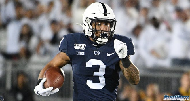 Ricky Slade's 44-yard carry was one of nine explosive plays for the Nittany Lions Saturday night.