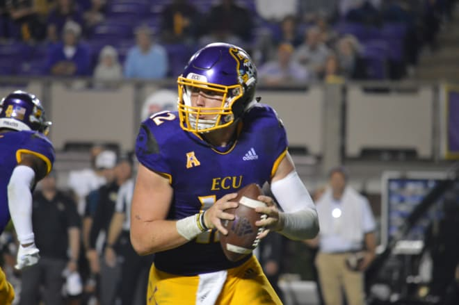ECU freshman quarterback Holton Ahlers threw for 406 yards and a touchdown in Saturday's loss to UCF.