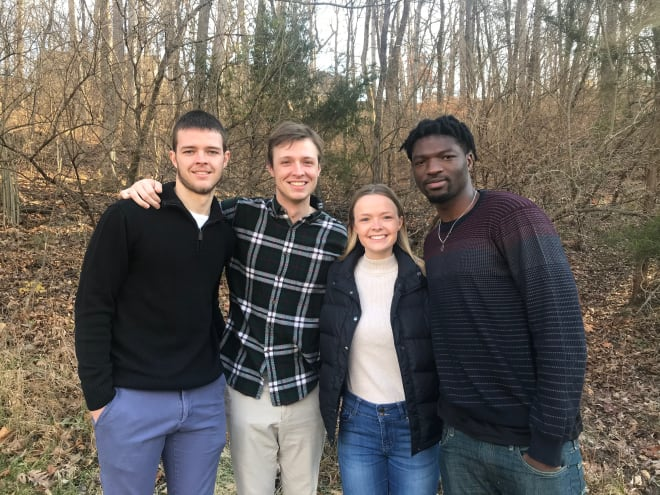 Missouri freshman forward Yaya Keita with his host family in St. Louis, the Harters: From left, Jim Jr., Annie and Brendan.