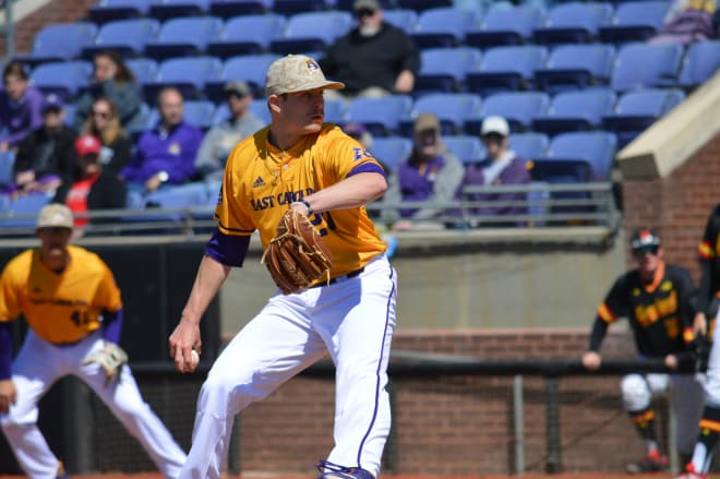 ECU right-hander Tyler Smith was solid on Sunday to help the Pirates win and he improved to 3-0 for the season.
