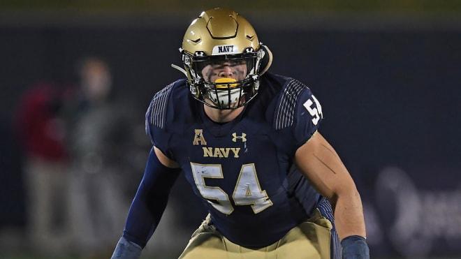 Navy Midshipmen linebacker Diego Fagot