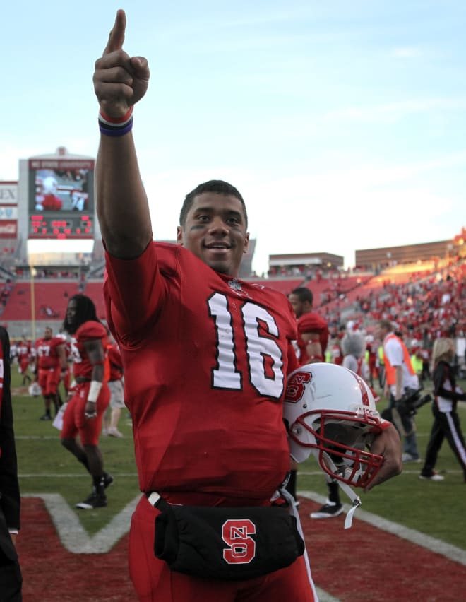 NC State Wolfpack football quarterback Russell Wilson
