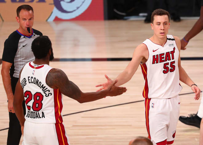 Miami Heat forward and former Michigan Wolverines basketball standout Duncan Robinson is locked in for the NBA Finals.