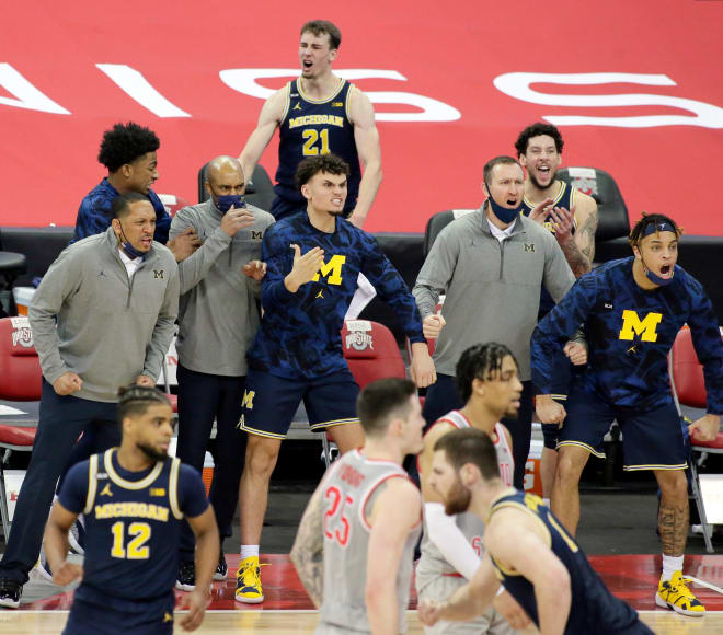 Michigan Wolverines basketball's bench brought the energy in the team's win over Ohio State.