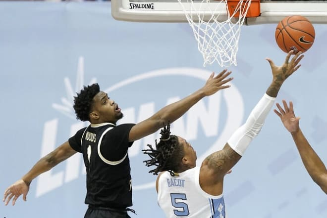 The Heels executed one of the Roy Williams' halftime mandates of getting the ball inside.