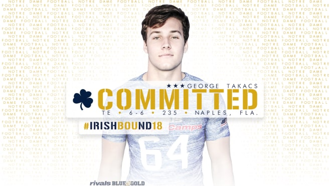 Four-star George Takacs is the first TE to join Notre Dame's 2018 class