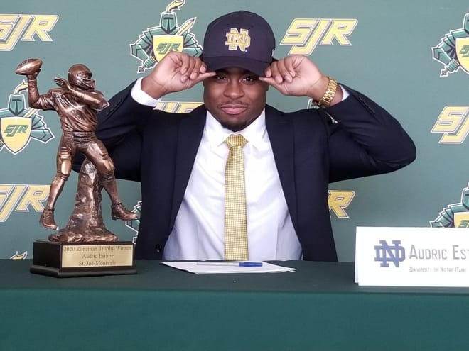 Montvale (N.J.) St. Joseph's running back and Notre Dame Fighting Irish football signee Audric Estime