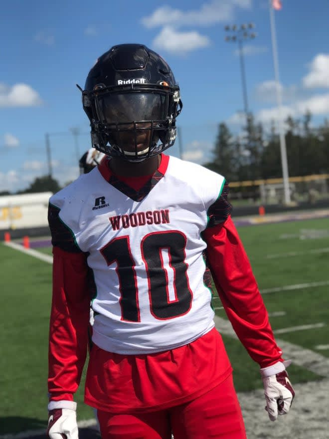 Woodson High defender Taylor Jackson made his verbal commitment to East Carolina on Monday.