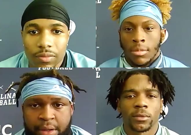 UNC Football Players Tuesday Interviews: Simmons, Brown, Tucker & Hollins