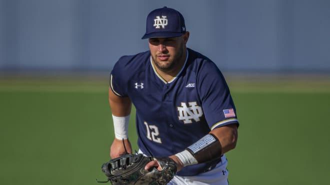 Notre Dame Fighting Irish baseball senior first baseman Niko Kavadas