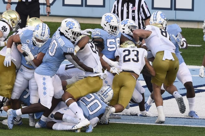 Building more depth up front is a primary point of emphasiss for UNC this month.