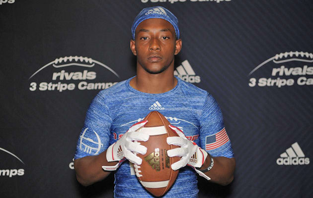 Ainias Smith participated in the Dallas event of the Rivals Three Stripe Camp Series presented by Adidas in April