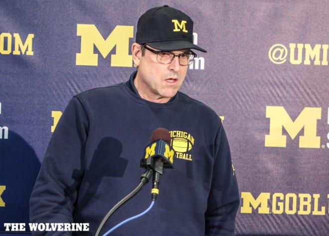 Michigan Wolverines football head coach Jim Harbaugh is pushing for a football season in the Big Ten.