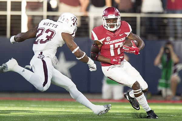 Robinson in a game vs. Texas A&M in 2015. PHOTO CREDIT: WholeHogSports.com