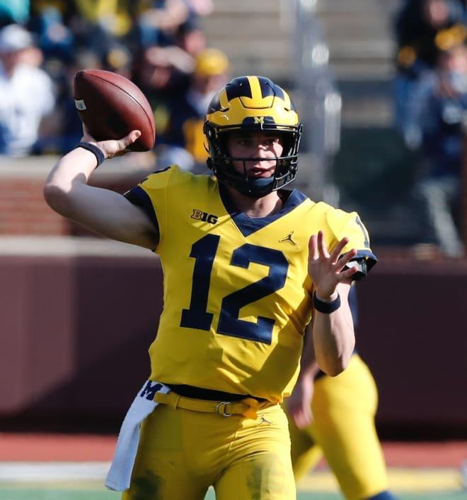 Michigan Wolverines football quarterback Cade McNamara