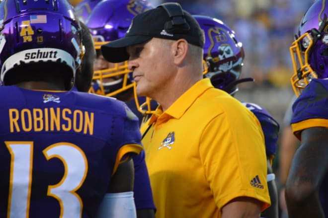 First year ECU head coach Mike Houston takes the Pirates into Norfolk on Saturday to play Old Dominion.