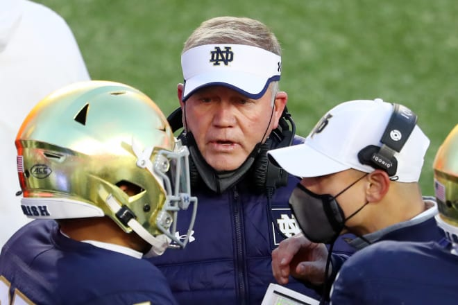 Notre Dame head coach Brian Kelly. Photo | Getty Images