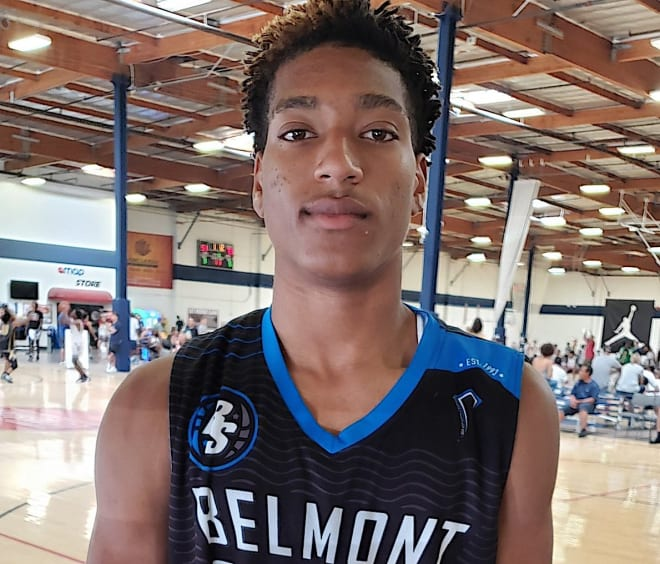 """2022 four-star combo guard Joseph """"JoJo"""" Hunter will take his first official visit to NU from Sunday-Tuesday."""