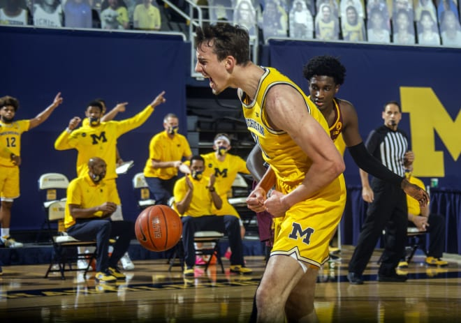 Michigan Wolverines basketball sophomore wing Franz Wagner is third on the team in scoring.