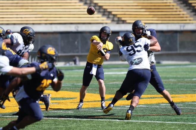 Zach Johnson (19) is very likely to be the backup QB when Cal's 2021 season starts