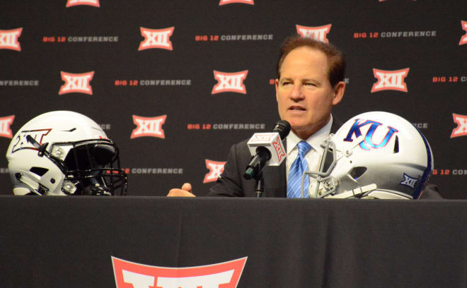 Kansas head coach Les Miles.