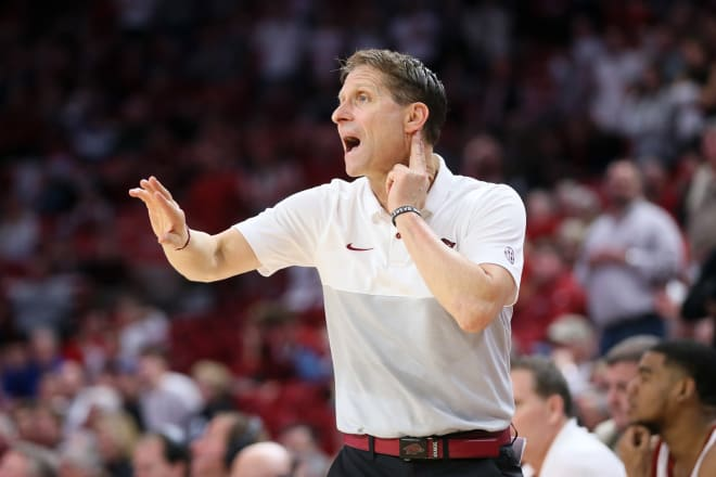 Eric Musselman recently received a contract extension through 2025 at Arkansas.