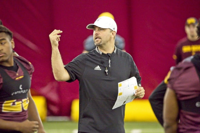 ASU's offensive coordinator says his group has a strong foundation to build upon ahead of Fall camp