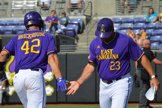 Spencer Brickhouse hammered a pair of homers including a grand slam in the opening game against Houston on Saturday.