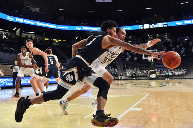 Notre Dame Fighting Irish men's basketball junior point guard Prentiss Hubb