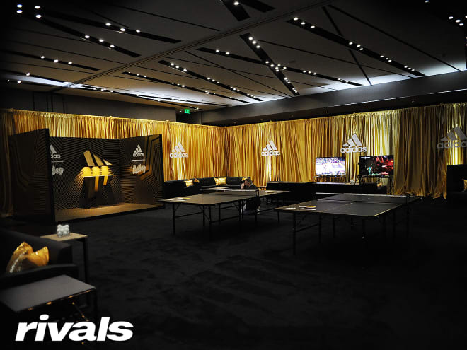 Players lounge at the Rivals100 Five-Star Challenge presented by adidas