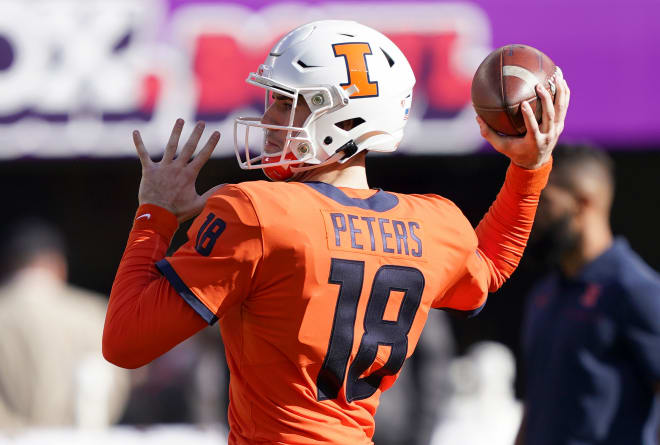"""Quarterback Brandon Peters is one of 21 """"super seniors"""" coming back to Illinois this year, the most of any Power Five team."""