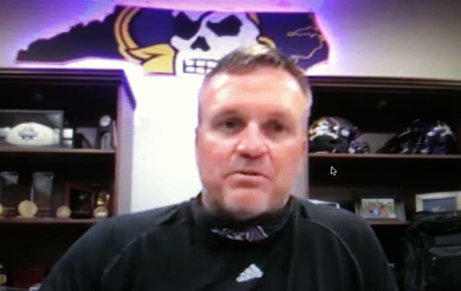 East Carolina head football coach Mike Houston.